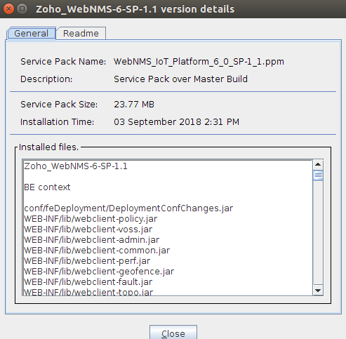 Installing Service Pack