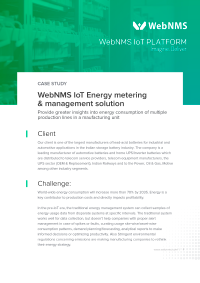 Enterprise IoT Solution for energy management - WebNMS IoT