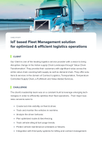 Internet of Things platform for enterprise fleet management - WebNMS IoT