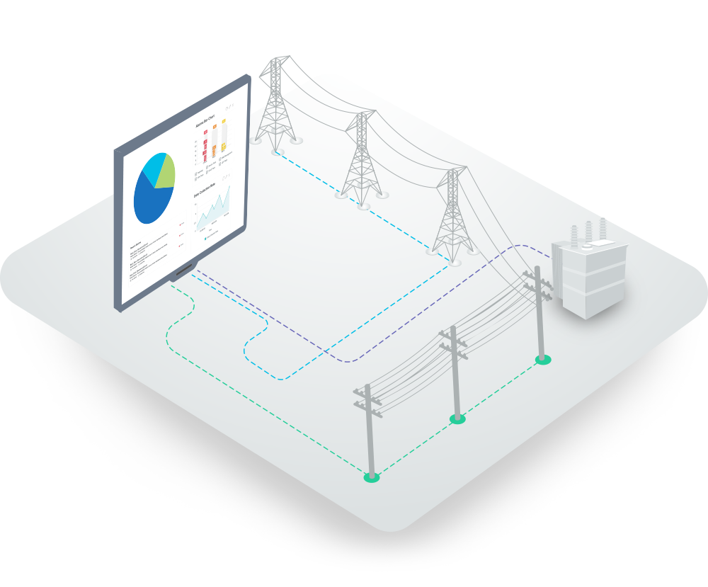 Electric Grid Monitor : Power grid monitoring rms on webnms iot platform