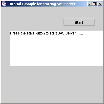 SAS as Part of an Application